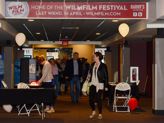 Movie fans leave screenings at last year's WilmFilm