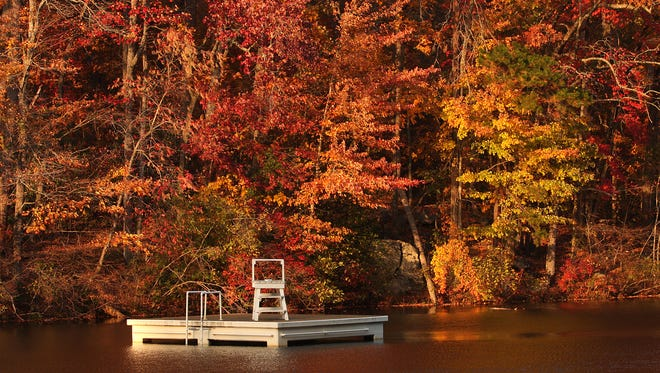 In this 2008 file photo, Mother Nature shows her palette of fall colors at Paris Mountain State Park.