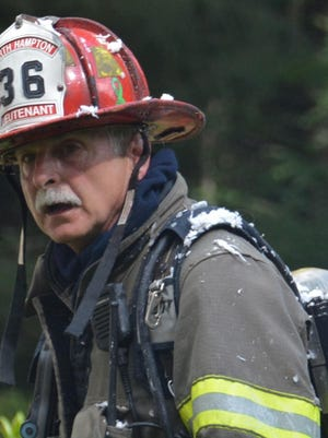 Peter Francis was promoted to lieutenant in the North Hampton Fire Department in 1992.