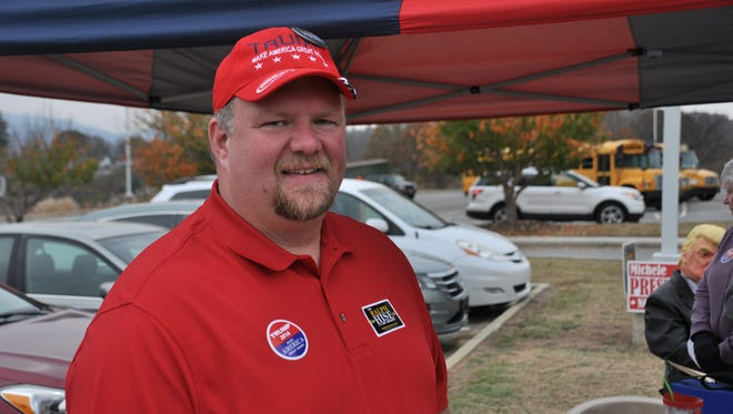N.C. Sen. Ralph Hise, R-Mitchell, made an Election Day stop to the Mars Hill precinct in Madison County on Election Day in 2016,