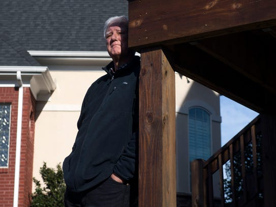 Mike Keel stands near his home on Wednesday, Jan. 31,