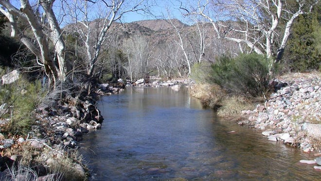 """Former Arizona Sen. Barry Goldwater asked how many """"little gems like Pinto Creek,"""" shown here, the state could afford to lose, when the creek was placed on an endangered waterways list in 1996."""