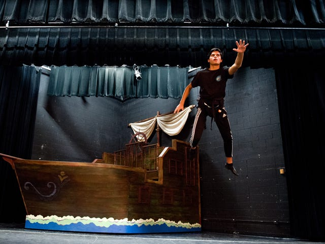 Athlete's journey takes different route after finding theater