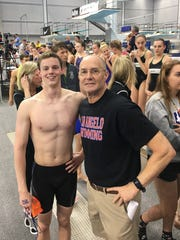 Matt Brewer was one of the top swimmers in San Angelo Central swim coach David Hague's 41-year career. Brewer now competes for TCU.