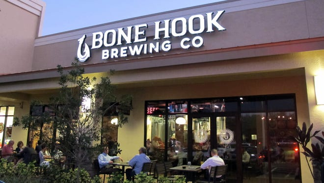 Bone Hook Brewing Co. serves its 20 craft beers in the Creekside Corners retail center in North Naples.