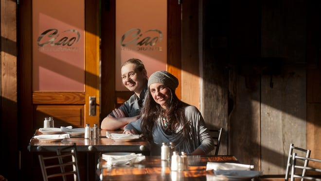 Chef Helen Impellizzeri, left, and owner Bridget Pizzonia sit inside their Italian restaurant, Ciao, at 1201 Payne Street in Louisville.