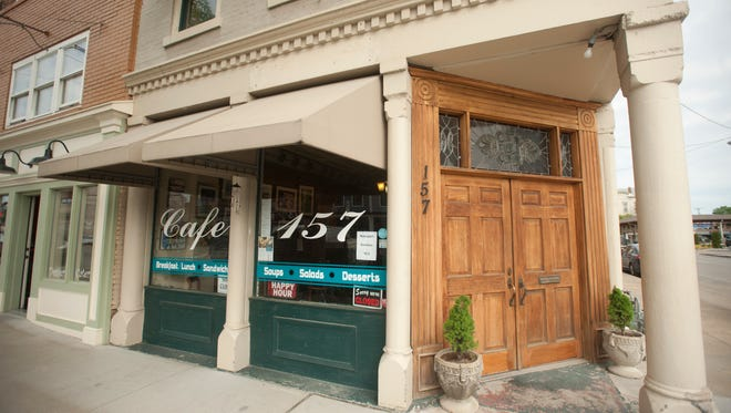 Cafe 157 is located at 157 E. Main St., in New Albany, Indiana.