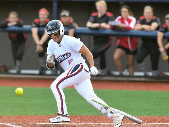 Kelly Kretschman of the USSSA Pride gets a hit during