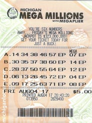 Paul Kuharevicz of Dearborn, Mich., played the same numbers for two years and won $1 million in September 2017 via Mega Millions.