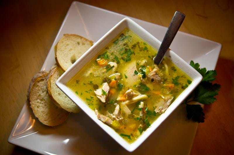 How long can you keep chicken soup in freezer