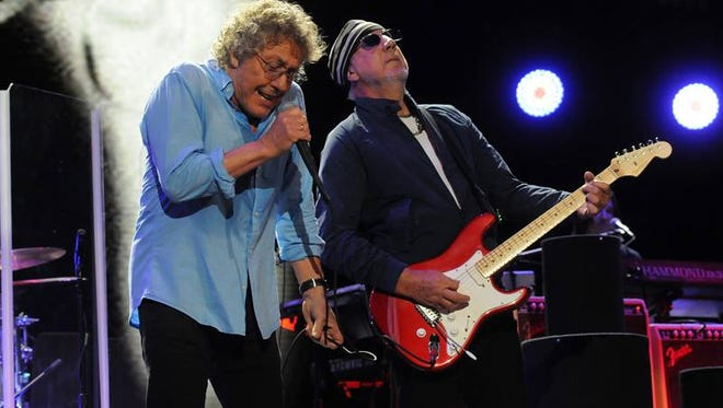 Roger Daltrey and Pete Townshend of the Who.