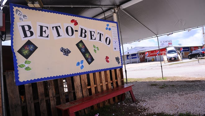 A Beto Beto booth, along with the Guam Liberation Historical Society Casino, in the background, can be seen in this photo taken at the Guam Liberation carnival grounds in Tiyan on June 23.