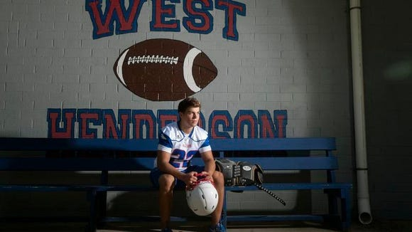 Stephen Perron is one of the top returning football players for West Henderson.