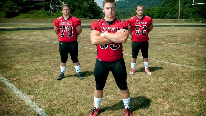 Pisgah players (from left to right) Ben Wright, Michael Parrott and Drayton Kirkpatrick.