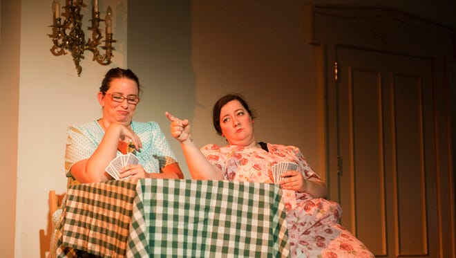 """Sarah Mikayla Brown, left and Lian Cheramie star in the two-woman show, """"Cajun Face."""""""