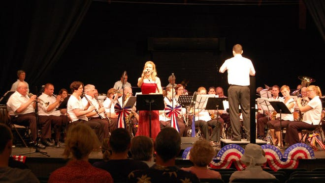 The Keystone Band of Rehersburg will play its 57th annual Fourth of July concert at Mt. Gretna playhouse at 7 p.m. Monday, followed by the Grand Illumination of Cottages and tree candle lighting at the tennis club grounds.