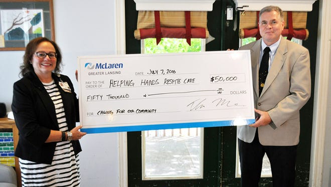 McLaren Greater Lansing has committed $50,000 to Helping Hands Respite Care to support access to respite care services in the Greater Lansing region.