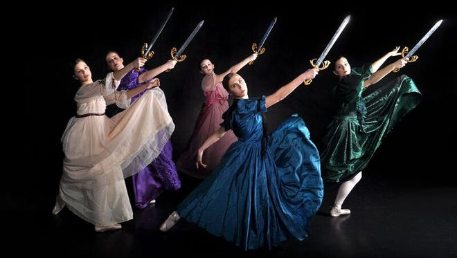 Members of Go! Contemporary Dance perform a ballet about the life of female pirate Anne Bonny.