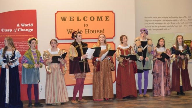 Kohler High School's Madrigal singers as well as other local high school groups will be performing choral music at the Wade House Visitor Center.