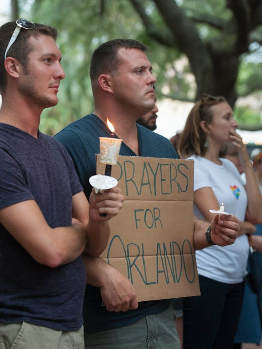 Candlelight Vigil for Orlando shooting victims