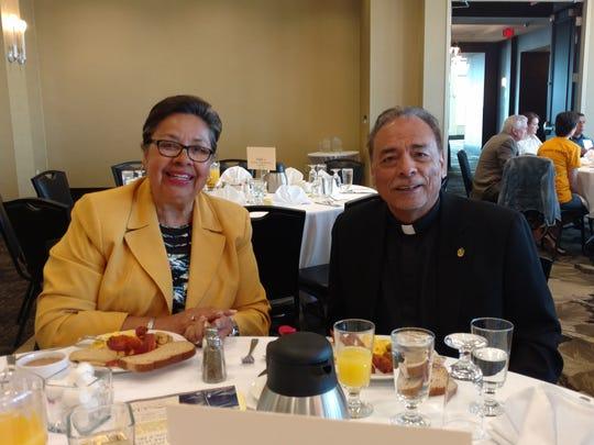 City Rep. Lilia Limon and Monsignor Arturo Banuelas