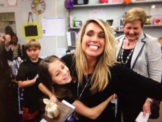 Kerri Toscano from Gateway Elementary is one six Golden