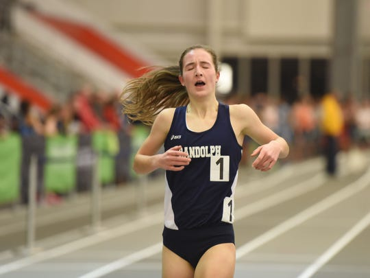Abby Loveys, Randolph, 1600m The Morris County Track and Field Championships.