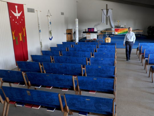 Rick Pearson looks through North Oxnard United Methodist Church, where he is a pastor. The church is committed to Family Promise, which temporarily houses homeless children and their parents until families can get back on their feet.