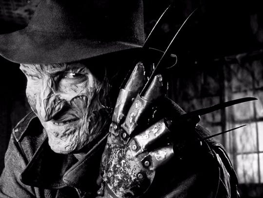 "Robert Englund as Freddy Krueger in ""A Nightmare on"