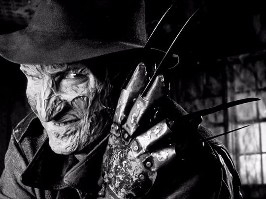 "Robert Englund as Freddy Krueger in ""A Nightmare on Elm Street."""