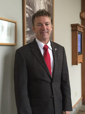 U.S. Sen. Rand Paul was in Asheville Saturday at the Grove Park Inn for private fundraisers.