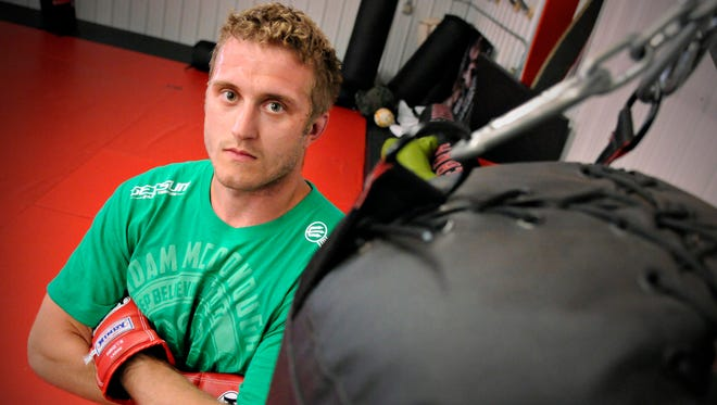 Mixed martial arts fighter Adam McDonough Wednesday, May 28.