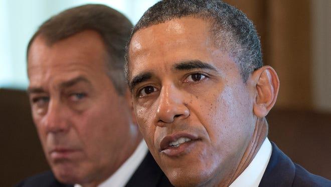 President Obama and House Speaker John Boehner, R-Ohio.