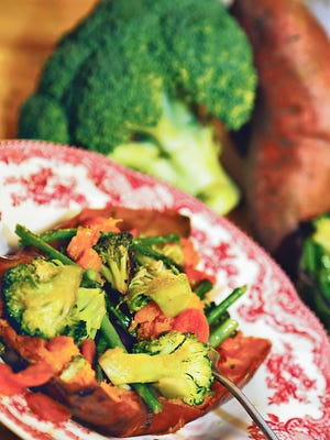 Stuffed sweet potatoes offer a fresh, healthy spin on a traditional family favorite.