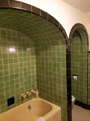 This bathroom is inside one of the homes on the Preservation