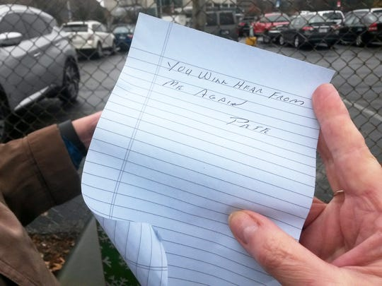 """A note from """"Pete,"""" an anonymous donor who gives to Easterseals every Christmas."""
