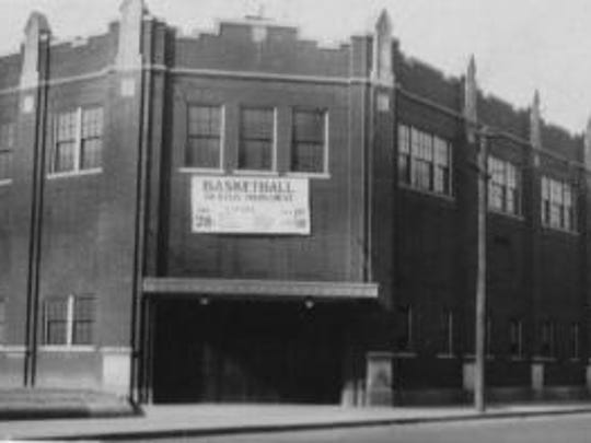 Photo shows the old Central High School gym, this photo ran in the Evansville Courier and Journal on 4/29/1928.