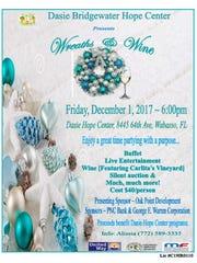 Wreaths & Wine event on Dec. 1 benefiting Dasie Bridgewater