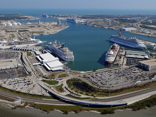 First Time Ever Six Cruise Ships Dock At Port Canaveral - Cruise ships port canaveral