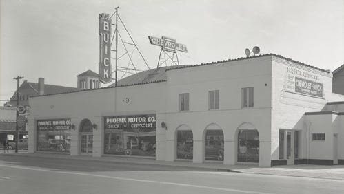 Photo of the site of Crescent Ballroom owner Charlie Levy's latest music venue as it looked in in the 1940s.