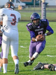 Lakeview RB Jalen Watkins (8) rushes for positive yards