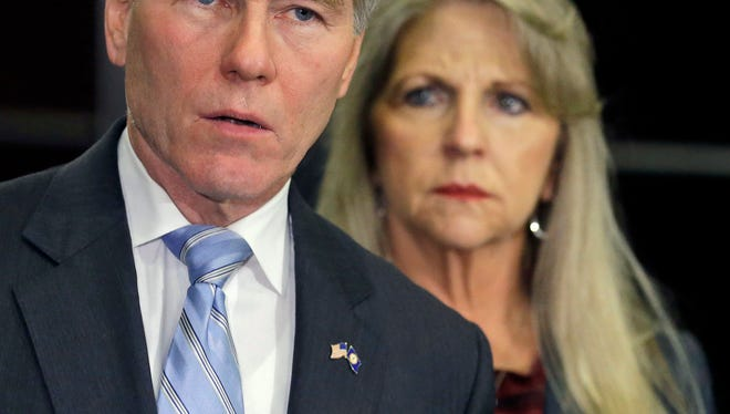 Former Virginia governor Bob McDonnell and wife Maureen on Tuesday.