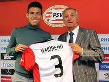 Usará Moreno dorsal número 3 en el PSV