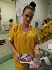 Krystal Jennings, pictured at Louisville Metro Corrections jail, worries about the impact her incarceration has on her children.