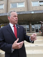 Rockland County Executive Ed Day at the Sain Building in New City May 5, 2016. He wants to sell the county-owned office building. An adult-home developer has made an offer to build a two-story facility on the site.