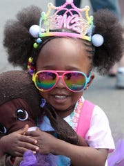Shyanne Germain, 2, of Spring Valley is dressed to the nines at the Rockland Pride Day in Nyack on June 12, 2016.