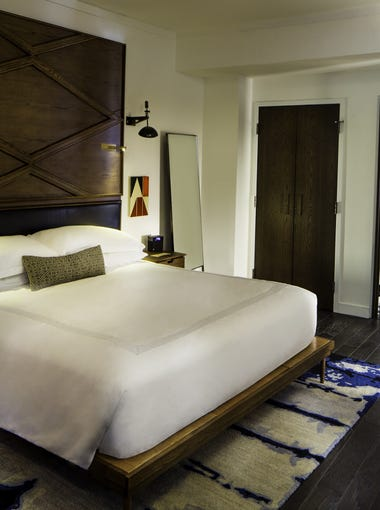 One of the 224 guest rooms at the Thompson Nashville.