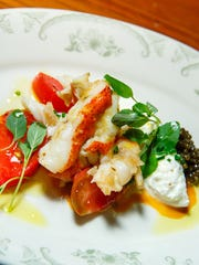 Butter poached Nova Soctia lobster, burrata, chilled