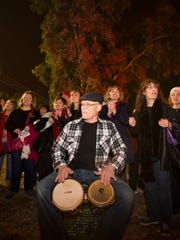The Central Community Choir sings during First Friday