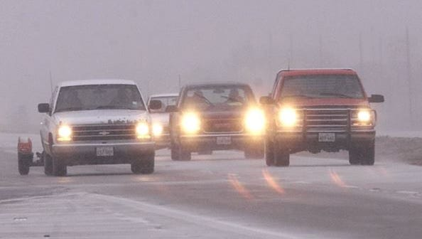 Up to 3 inches of snow fell on the Lansing region overnight, making for a slippery commute this morning, National Weather Service officials said